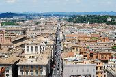 stock photo of emanuele  - Rome aerial view from Vittorio Emanuele monument. Italy. ** Note: Visible grain at 100%, best at smaller sizes - JPG