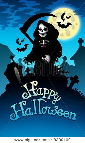 Halloween Image With Grim Reaper