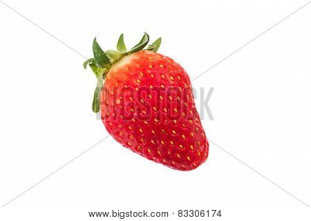 Stawberries Isolated Over White Background