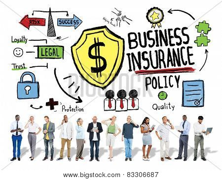 Multiethnic People Communication Safety Risk Business Insurance Concept