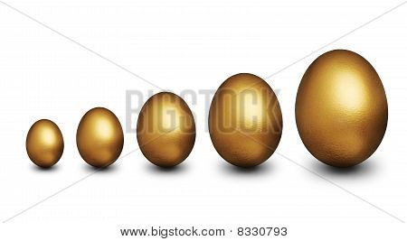 Golden Eggs representing Financial Security