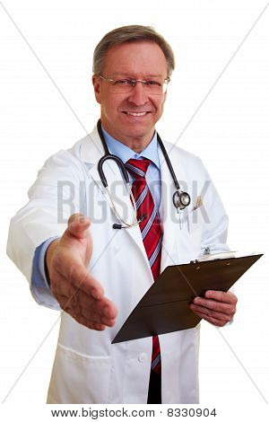 Doctor Offering Handshake
