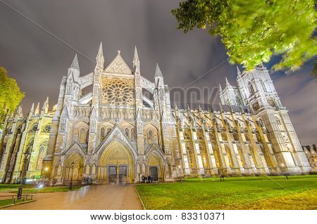 Westminster Abbey cathedral in London