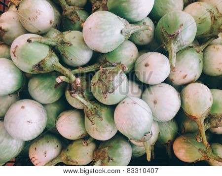 Fresh Solanum in market