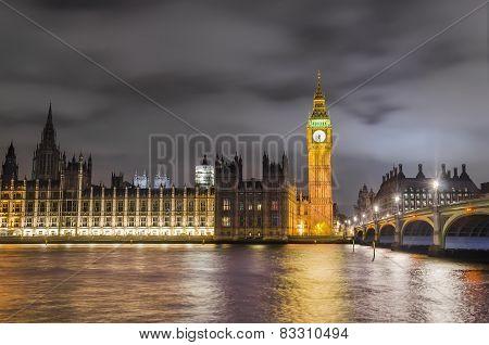 Twilight view of London's landmarks