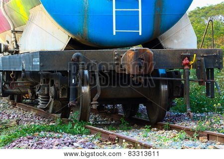 Train transfer oil to other place, Cargo business for transfer oil from station to other place.