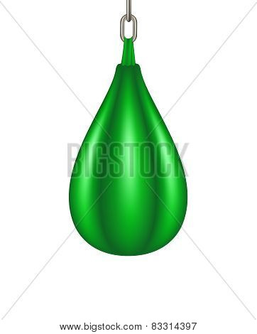 Punching bag for boxing in green design