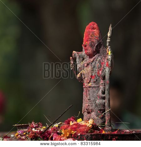place of worship in an hinduist temple, Bardia, Nepal
