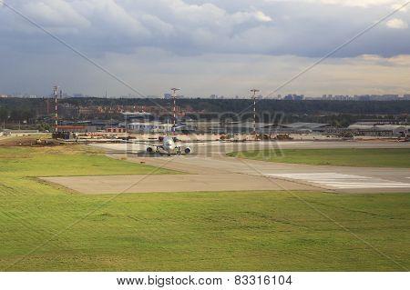 Aircraft at the airport Sheremetyevo.