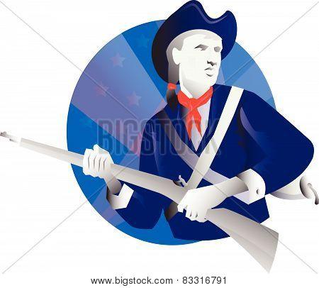 American Minuteman Revolutionary Soldier
