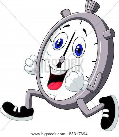 Cartoon stopwatch running
