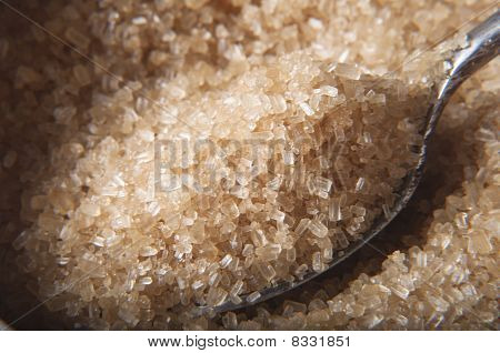 Spoonful Of Brown Sugar In Bowl