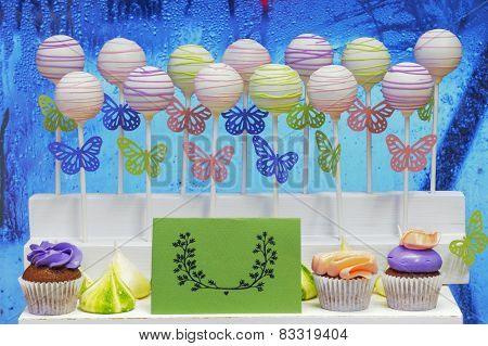 cake-pops on a vivid background