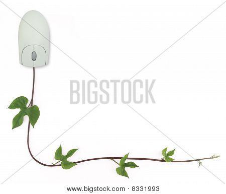 Computer Mouse And Vine Border