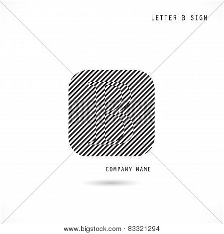 Creative Letter B Icon Abstract  Logo Design Vector Template.
