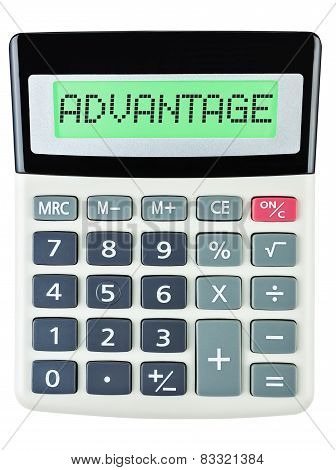 Calculator With Advantage On Display Isolated