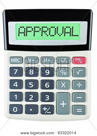 Calculator With Approval