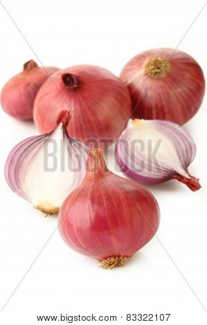 Shallot On White
