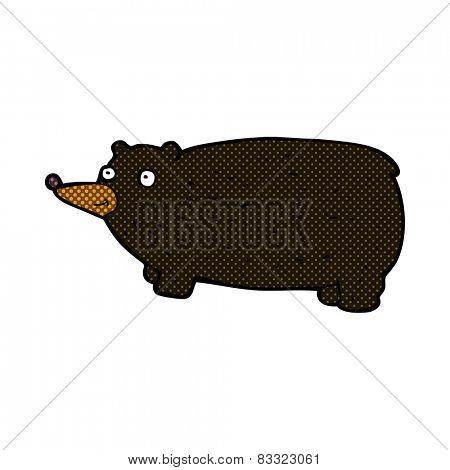 funny retro comic book style cartoon bear