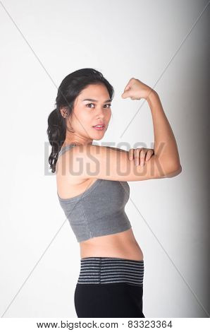 Beauty and healthy female working out