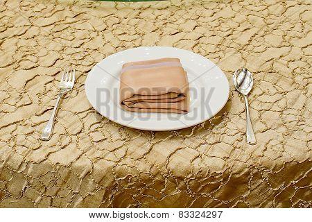 Table Arrangement In An Expensive Haute Cuisine Restaurant
