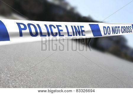 Police Line on a Crime Scene