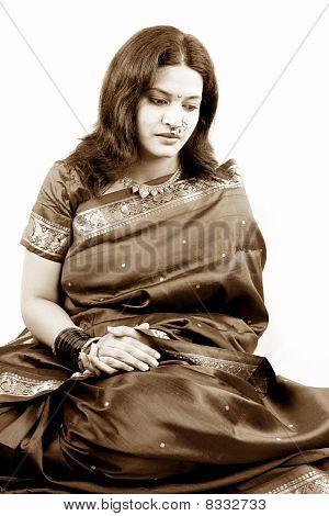 Sad Indian Woman