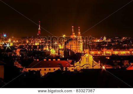 Night View On Prague