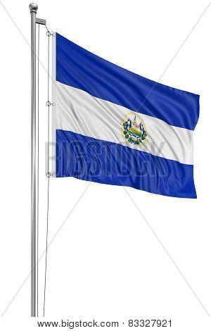 3D flag of El Salvador