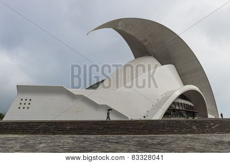 Concert Hall In Rain