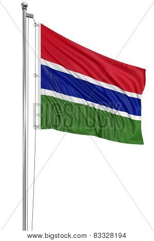 3D Gambia flag