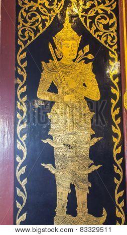 Thai Angle Door In Chapel