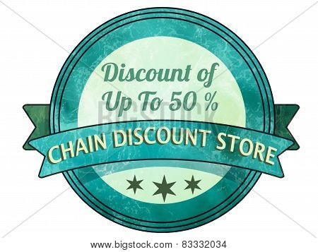 Chain Discount Store Stamp