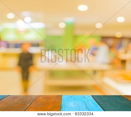 Bokeh Of Interior Of Modern Restaurant