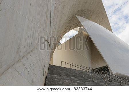Side Face And Stairs Of Concert Hall Of Calatrava