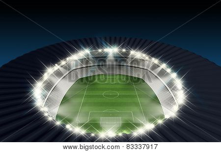 Soccer Stadium Night