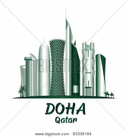City of Doha Qatar Famous Buildings