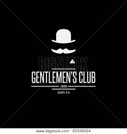 vintage label with gentleman