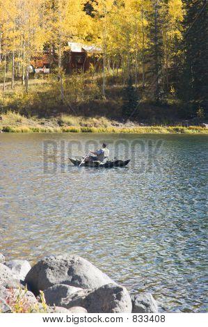 Fisherman on Mesa Lake