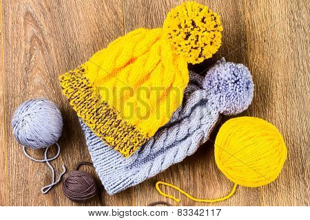 Yarn And Knitting Caps