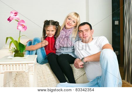 Happy Family Expecting The Second Child