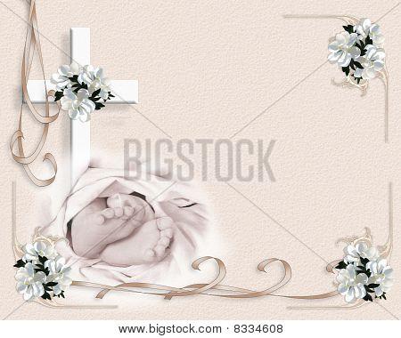 Baby baptism invitation template