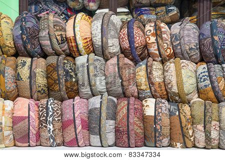 Souvenirs In The Form Of Pillows In Indonesia