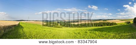 Eifel Summer Landscape Panorama, Germany
