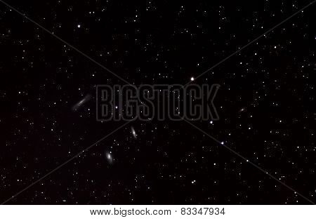 Leo Triplet In Dark Sky