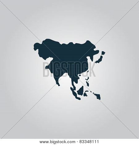 Asia map vector