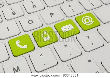 Contact Us - Keyboard - Green