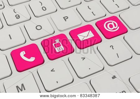 Contact Us - Keyboard - Magenta