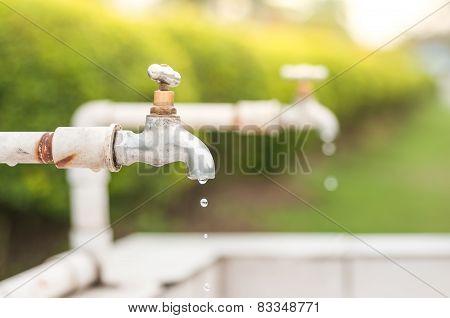 Leaking Waste Water.