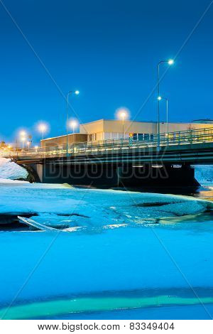 Bridge Over Icy River 1